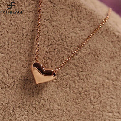 AU1.49 • Buy Gold Plated Heart Pendant For Women Fashion Necklace Statement Bib Chain Jewelry