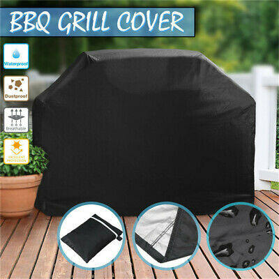 AU24.89 • Buy BBQ Cover 2/4 Burner Waterproof Outdoor Gas Charcoal Barbecue Grill UV Protector