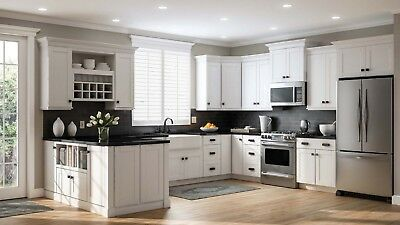 $2035.20 • Buy 10'x10' White Shaker Solid Maple Wood Kitchen Cabinets - 5/8  Plywood Box