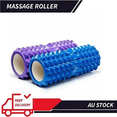 AU22.41 • Buy Grid Roller Yoga Foam Trigger Point Massage 33cm Physio Gym Exercise EVA PVC