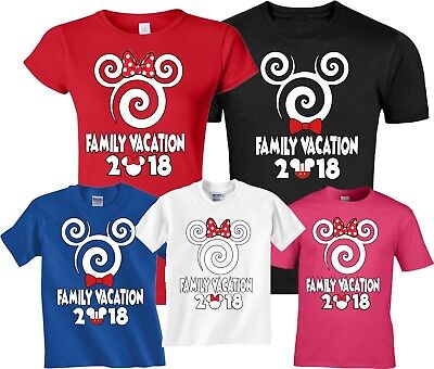 $12.99 • Buy Disney Family VACATION 2018 Spiral Mickey & Minnie MATCHING T-Shirts
