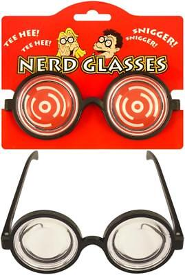Nerd Goofy Glasses Unisex For Geeks Themed Party Black Frame One Size Wally • 20£
