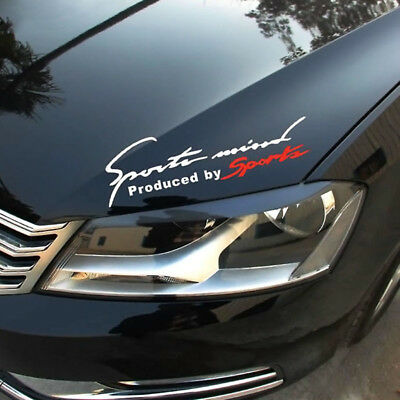 $ CDN1.34 • Buy 1x Sports Racing Car SUV Decal Stickers Auto Reflective Vinyl Graphic White+Red