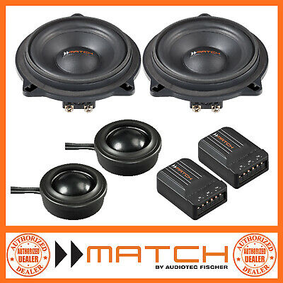 Match MS 42C-BMW.1 BMW 1 Series 4  10cm 2-Way Component Car Speakers • 134.99£