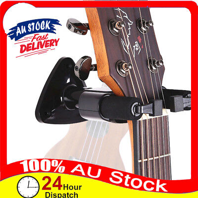 AU13.99 • Buy Guitar Ukulele Bass Hanger Holder Wall Mount Stand Rack Short Slotted Hook