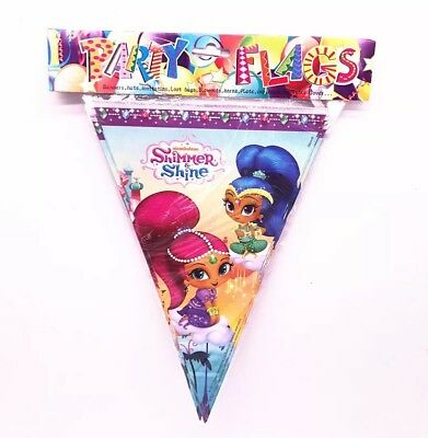 $4.99 • Buy 2.5 M Shimer And Shine Paper Birthday Banner Flag Decoration Party Supplies.