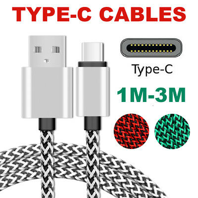AU4.04 • Buy Type-C USB Charger Cable Lead Cord 2M 3M Long For Samsung Galaxy S8 Plus Note S9