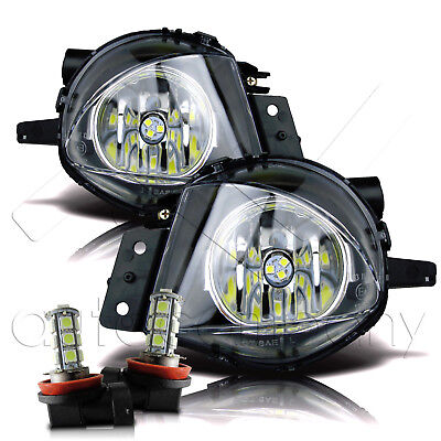 $53.99 • Buy 06-08 Replacement BMW E90 3 Series Fog Lights W/LED Bulbs - Clear Pair Set
