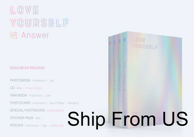 $24.99 • Buy BTS LOVE YOURSELF 結 'answer'  Ship From US + Tracking Option Unfolded Poster