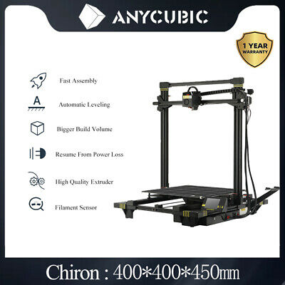 AU549 • Buy ANYCUBIC Chiron 3D Printer Semi Auto-Level DIY 400x400x450mm Ultrabase PLA ABS
