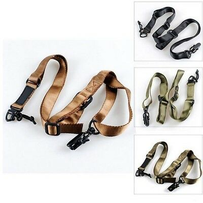 $ CDN8.99 • Buy Tactical 2 Point Multi-Mission Rifle Sling Adjustable Hunting Protective Swivels
