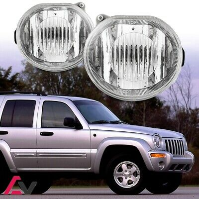 $48.79 • Buy 02-04 For Jeep Liberty Clear Lens Pair Bumper Fog Light Lamp OE Replacement DOT