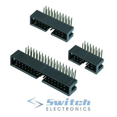 IDC Right Angle Pin PCB Boxed Header Connector 2.54mm - 10 To 40 Ways • 1.99£