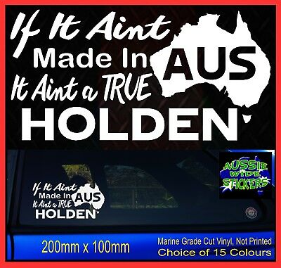 AU6.90 • Buy MADE IN AUS Funny Aussie 4x4 Ute BNS Custom Car Stickers Accessories For Holden