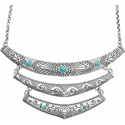 £37.81 • Buy NWT Brighton NAVAJO Indie Collar Necklace Triple Bar Turquoise Blue MSRP $78