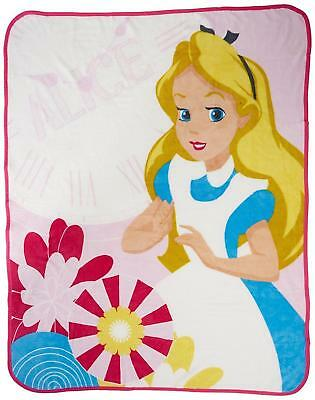 £7.12 • Buy Alice And Wonderland Curious Coral Fleece Blanket By Character World