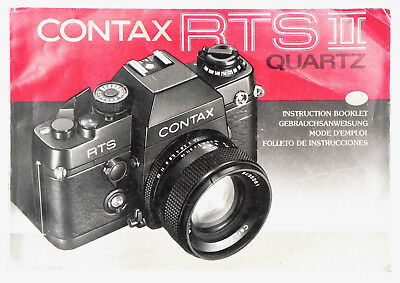 $ CDN54.45 • Buy Contax RTS II Quartz Instruction Book