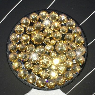 AU45.16 • Buy Bling Authentic Black PopSocket W/ Gold Swarovski Crystals PopSockets IPhone LG