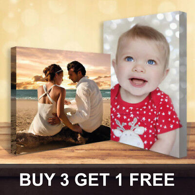 Buy 3 Get 1 Free Personalised Your Photo On Canvas Prints - A5 A4 A3 A2 A1 A0  • 7.49£