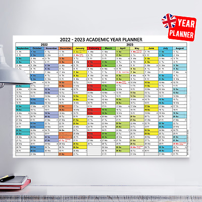 2020 -2021 Academic Mid Year Student Wall Planner Holidays School | A4 A3 A2 A1 • 2.99£
