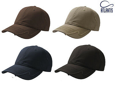 £8.95 • Buy Mens Hurricane Vintage Destroyed-Look Military Cotton Baseball Cap 4 Colours
