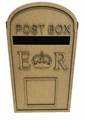 PERSONALISED Wooden Wedding Post Box, Royal Mail For Cards Letters Gifts S279 • 9.50£