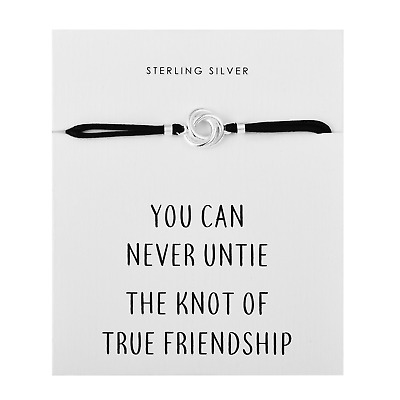 Sterling Silver Knot Quote Bracelet By Philip Jones • 11.95£