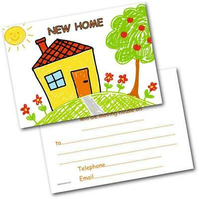 New Address Cards New Home Postcards Kids House Pack Of 20 Cards & Envelopes • 4.99£