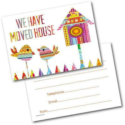 New Address Cards New Home Postcards Two Birds Pack Of 20 Cards & Envelopes • 4.99£