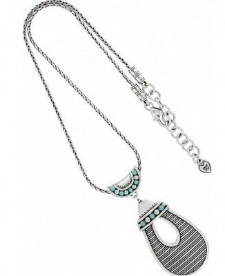 £24.72 • Buy NWT Brighton INDIE Turquoise Howlite Silver Pendant Necklace Primrose MSRP $68