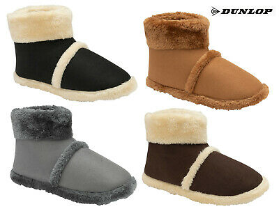 £15.95 • Buy Mens Dunlop Boot Slippers Stylish Warm Soft Comfy Faux Fur Lining Outdoor Sole