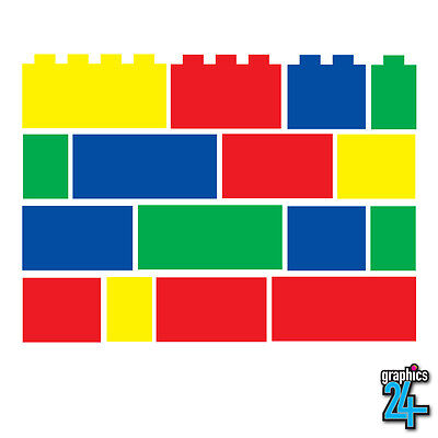 48 X Lego Bricks Set Children's Vinyl Wall Art Sticker Decal Bedroom Home Decor • 11.99£