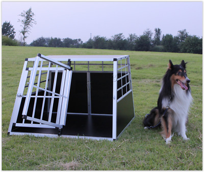 £129.99 • Buy Double Dog Crate Aluminium Transport Carrier Travel Box Car Cage Double Door