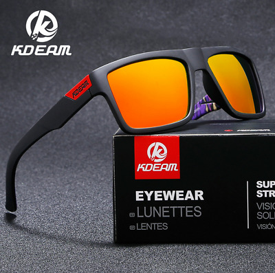 AU11.84 • Buy KDEAM Mens Polarized Sport Sunglasses Outdoor Driving Fishing Square Glasses Hot
