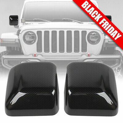 $33.49 • Buy For Jeep Wrangler JL Exterior Right & Left Mirror Cover Accessories Carbon Fiber