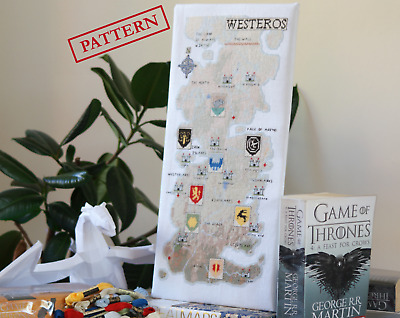£4.50 • Buy Westeros Map (Game Of Thrones) - Cross Stitch Pattern