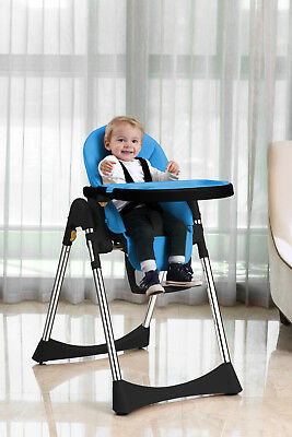 Velu Baby Child Highchair Feeding Chair Compact High Chair BLUE • 84.95£