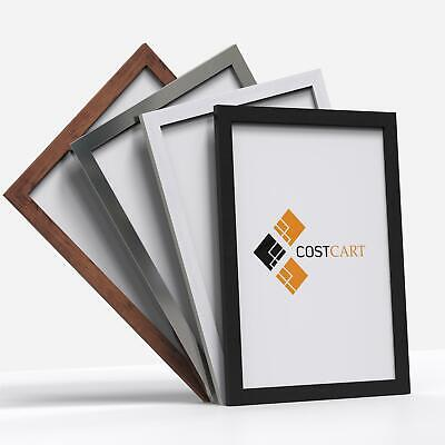 Wooden Effect Photo Frame Picture Poster Wall Decor Collage Hanging A1 A2 A3 A4 • 6.95£