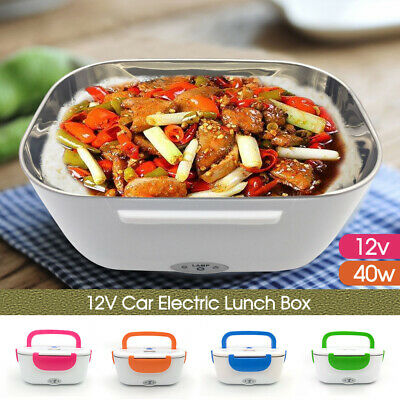 AU22.39 • Buy Portable Electric Heated Car Plug Heating Lunch Box Bento Food Warmer 12V AU