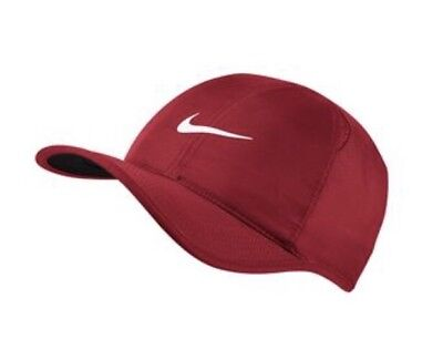 sports shoes 9c973 6c65d Nike Aerobill Featherlight Dri-Fit Red White Unisex Tennis Cap Hat 679421- 687