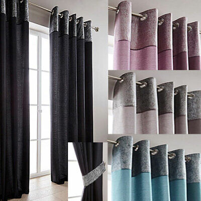 £10 • Buy Morgan Metallic Border Lined Ring Top Curtains - NOW £10, £15 & £20