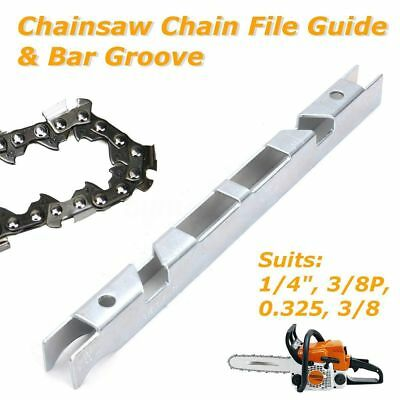 £2.89 • Buy Depth Gauge Chain File Guide & Bar Groove Kit For 1/4'' 3/8'' P 0.325'' Chainsaw