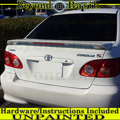 $43.26 • Buy For 2003 04 05 06 07 2008 TOYOTA COROLLA Factory Style Spoiler W/LED UNPAINTED