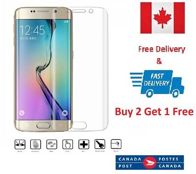 $ CDN4.23 • Buy Curved Clear Film Soft Screen Protector For Samsung Galaxy S7 Edge
