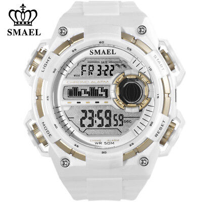 $ CDN13.79 • Buy SMAEL Sport Watch For Men Large Dial LED Watches Digital Electronic Wristwatch
