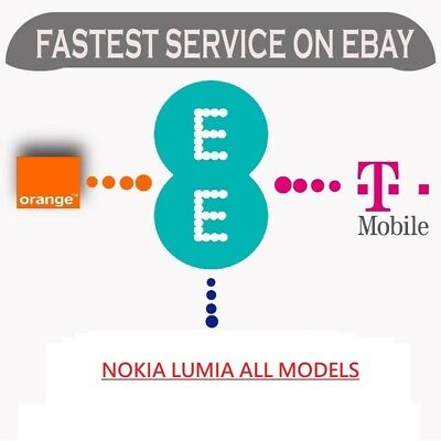 Vodafone Uk Only Nokia Lumia 505 510 520 525 530 610 620 625 630 638 Unlock Code • 1.67£