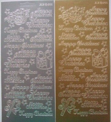 £2.40 • Buy 2 Sheets Of Happy Christmas Peel-offs With Emblems  Gold And Silver 32 In Total