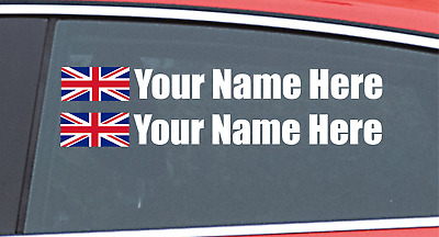 £4.99 • Buy Race Car Drivers Personalized Name Sticker Rally Car Racing Car Stickers WHITE