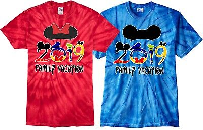 $16.99 • Buy Family VACATION Disney 2018/ 2019 Mickey & Minnie MATCHING Tie Dye T-Shirts