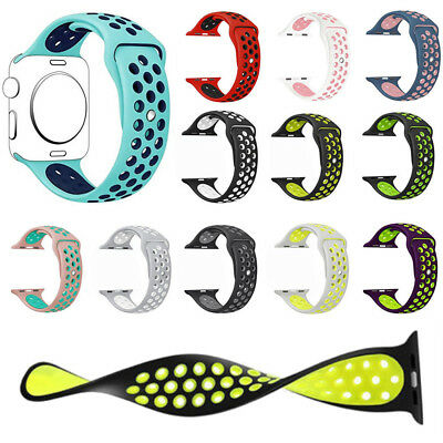 AU13.59 • Buy Replacement Silicone Band For Apple Watch Sport Nike+ 38/40 42/44mm Series 4 3 2